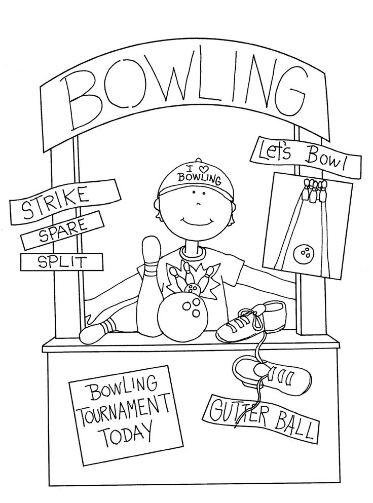 added a bowling girl booth - Bowling Pictures To Color