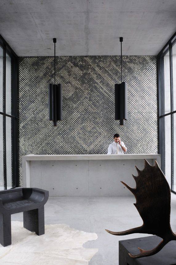 Habita Monterrey/joseph dirand_México  love the textured wall. could we do with flax or wool or other natural fibre. feature wall somewhere. coulod be small panel