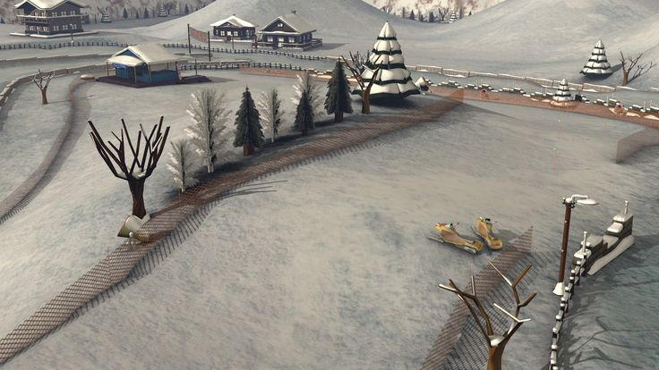 Some renderings of our next track: snow!