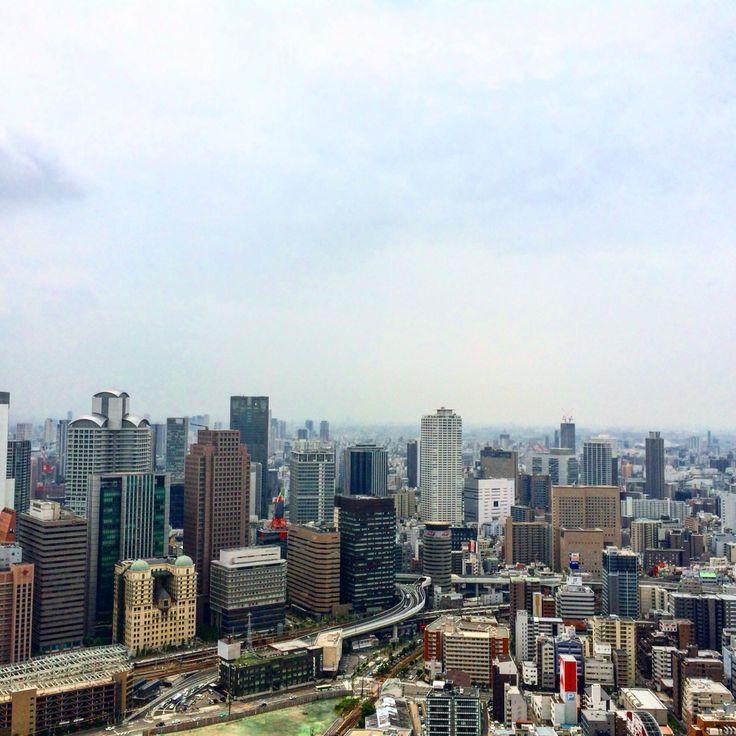 Osaka from above...