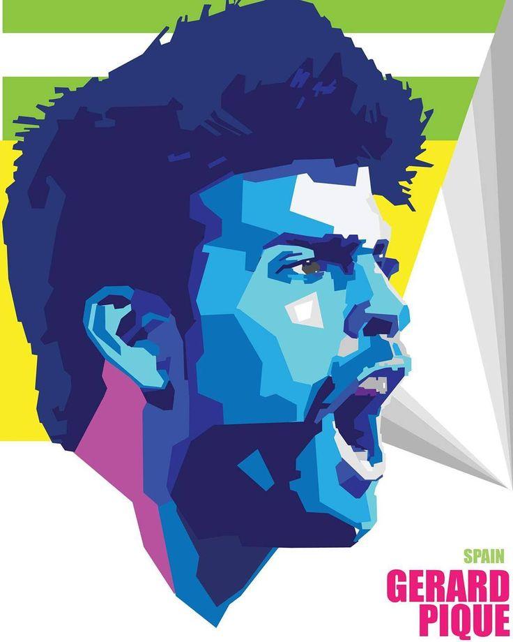 "112 Likes, 3 Comments - Tehzeeb Hassan (@tehzeebhassanwork) on Instagram: ""@3gerardpique #spain #football #player #euro #cup #2016 #illustration #adobephotoshop #vintagestyle…"""