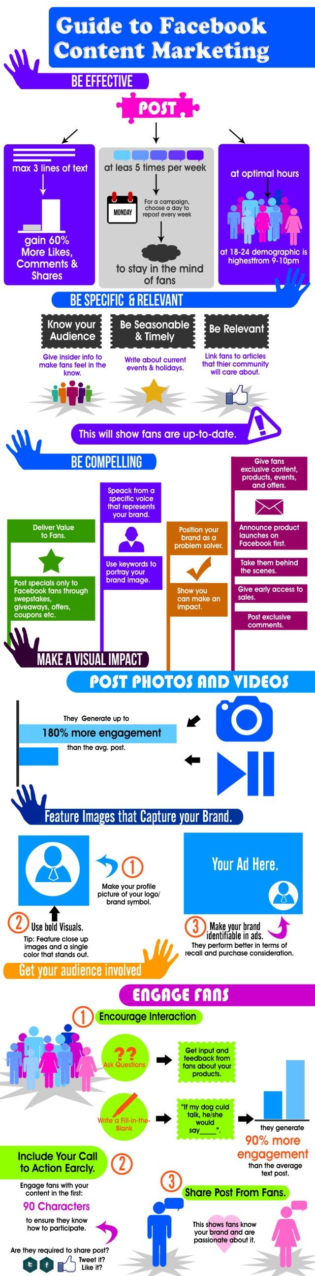 Guide to FaceBook content marketing #infografia #infographic #socialmedia