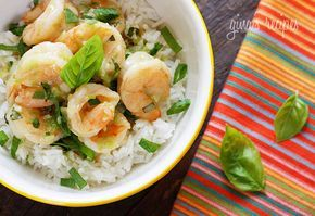 Sweet coconut milk and spicy green curry paste are blended with shrimp and basil to create a comforting Thai curry dish. Serve over Jasmine rice (not included in nutritional info) to soak up the sauce and you have a complete dinner!  If you love Thai food as much as I do, you'll love this quick and easy dish, perfect for a busy weeknight! A lot of Thai dishes are hard to make at home if you don't have access to a good Asian market, but luckily with the popularity of Thai cuisine, com...