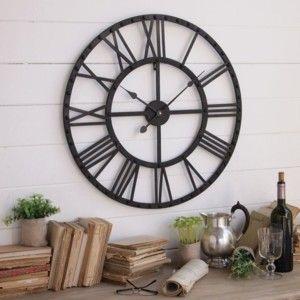 Nástěnné hodiny Industrial Rusty Black, 70 cm