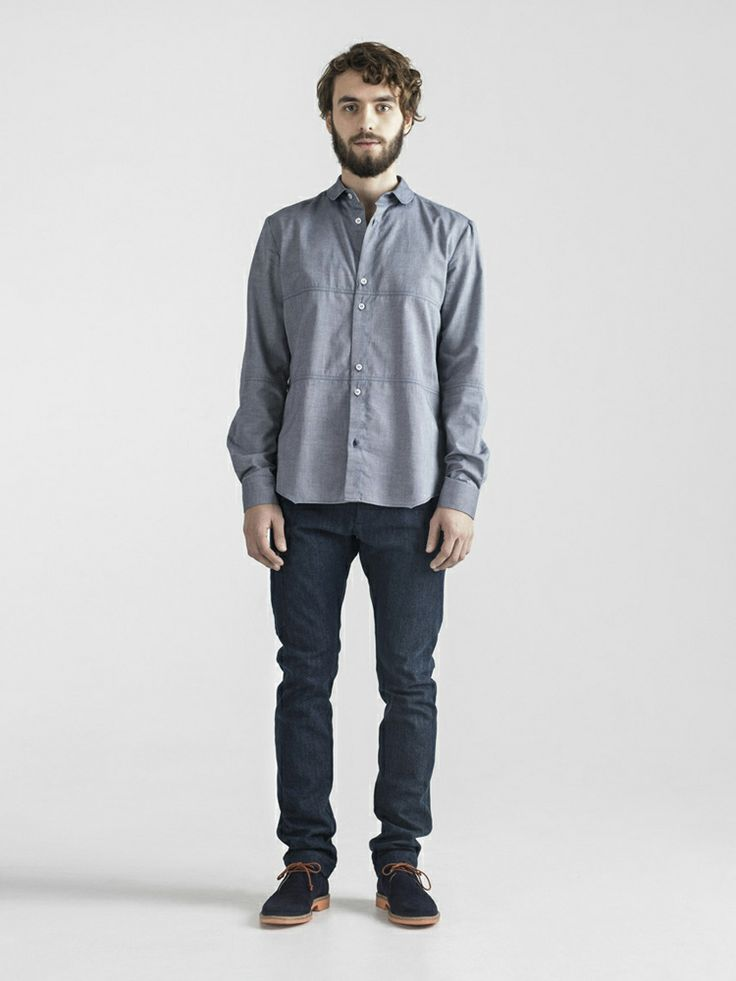 #FRENN SS14 Aquatic - Ahto #cotton #shirt and Ville #denim #trousers   www.frenncompany.com/shop