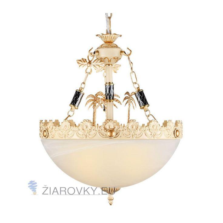 Luxusné závesné svietidlo Palác s ručnou maľbou