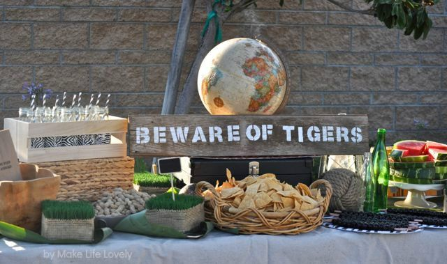 Last month I put together a very fun jungle safari birthday party for my little guy who just turned two years old.  I LOVE the way that everything came together, and I wanted to share some of the details and photos of the party with you! This is part one of the jungle safari party, …