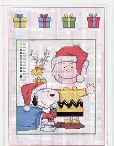 @Alicia T Sharp this would be cute for u to do for your brotherChristmas Snoopy Cross Stitch Pattern :33 so