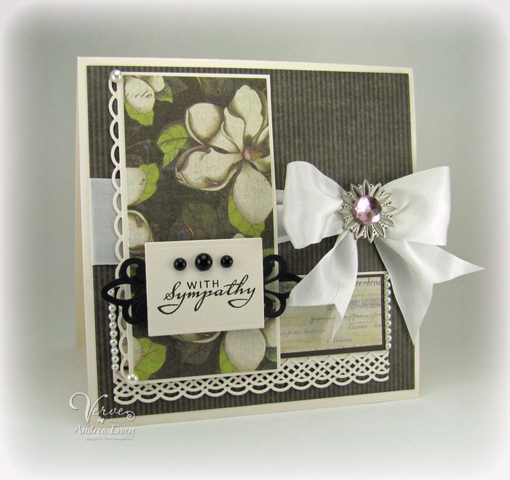 Sympathy Card Ideas To Make Part - 32: Sympathy Card By Andrea Ewen Using Verve Stamps. #vervestamps
