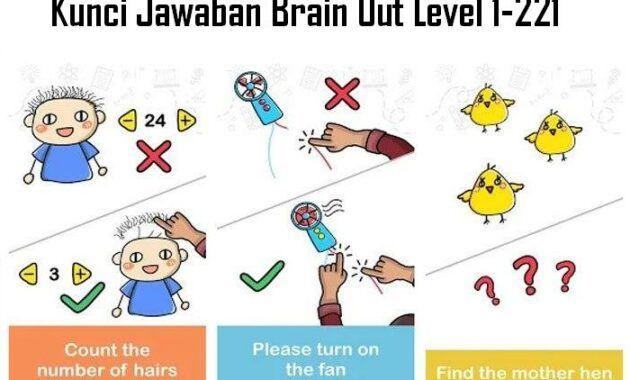 Kunci Jawaban Brain Out Level 1 221 Lengkap Terbaru Jerapah Anjing Kucing