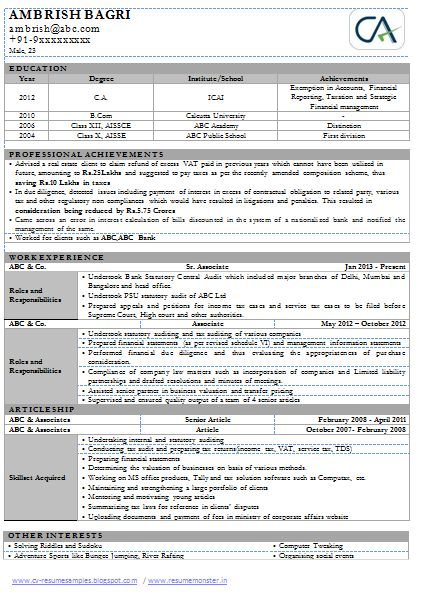 Chartered+Accountant+Sample+Resume+(Page+1).png (422×603)