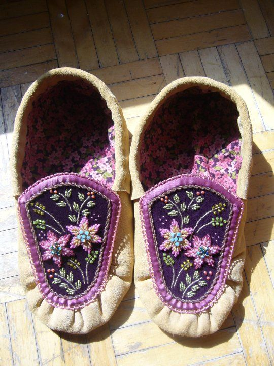✪☯☮ॐ American Hippie Bohemian Style Boho ~ Purple Moccasin Shoes!