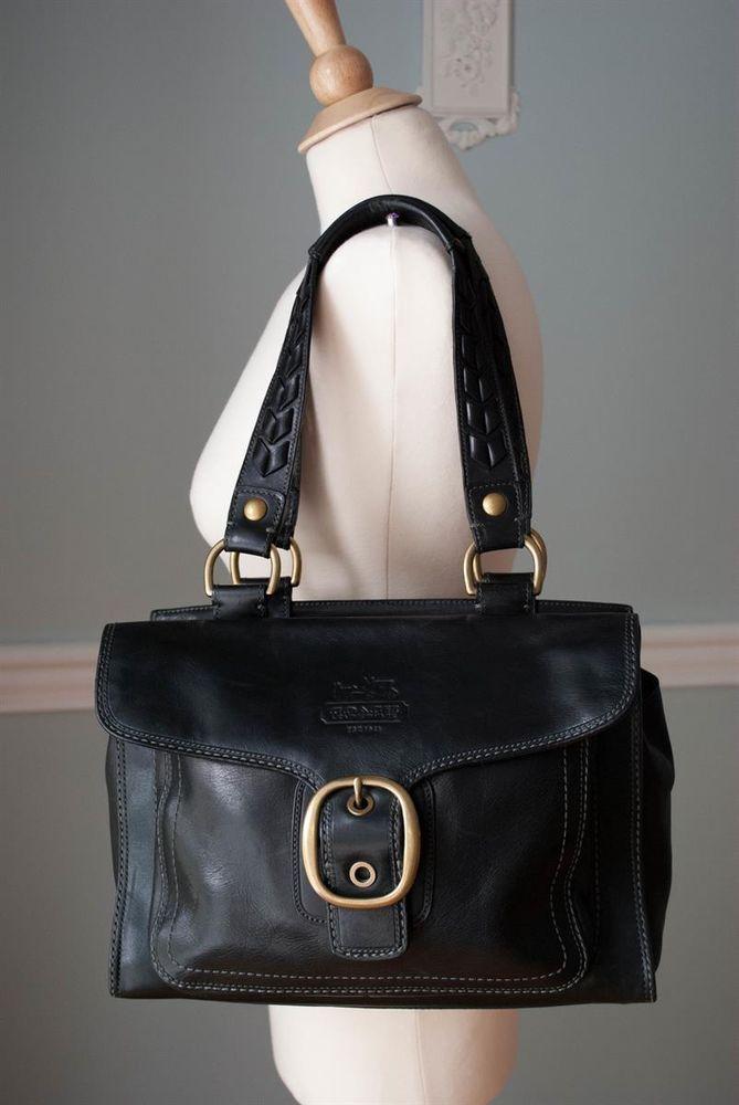 Coach Black Vachetta Leather Large Bleeker Tattersal Tote Handbag 11420 in  Clothing, Shoes & Accessories, Women's Handbags & Bags, Handbags & Purses