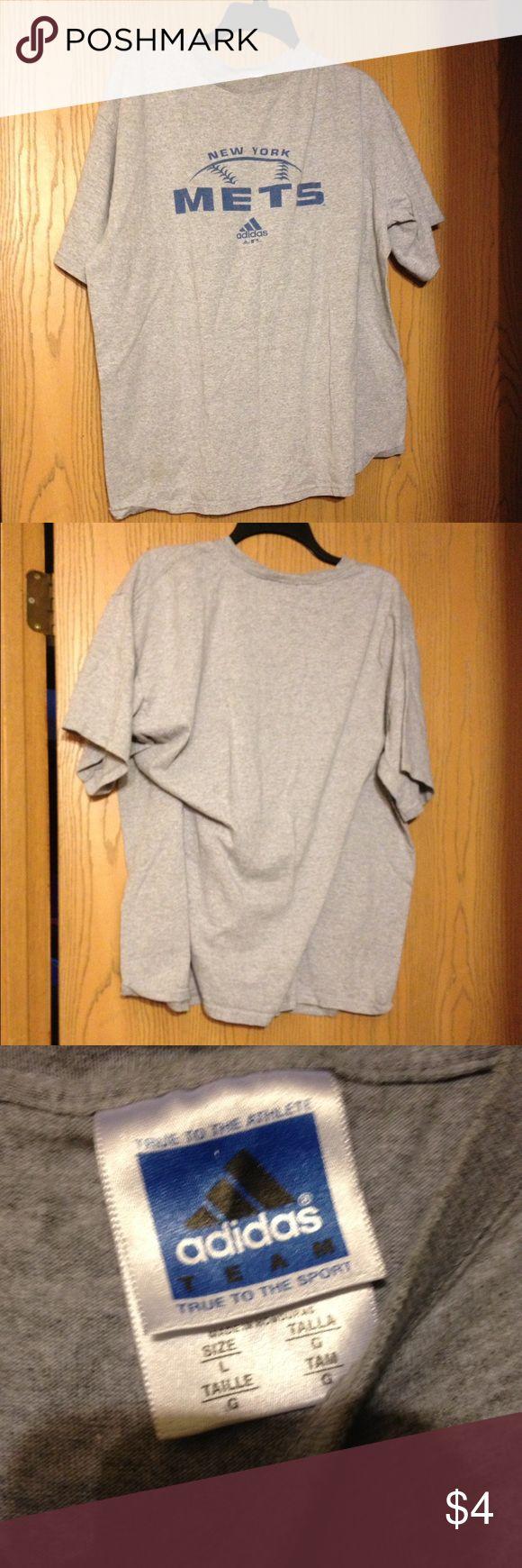 🎯🎯Men's Adidas Tee🎯🎯 Gray New York Mets Tee Adidas Tops Tees - Short Sleeve