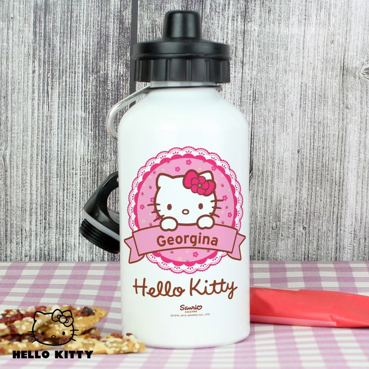 This Hello Kitty Floral Drinks Bottle can be personalised with any name up to 12 characters in length.