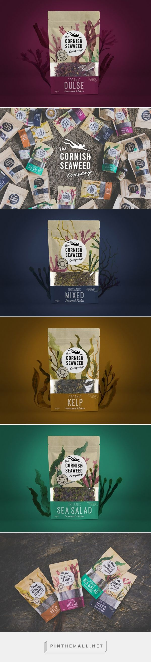 The Cornish Seaweed Company by Kingdom & Sparrow. Source: Daily Package Design Inspiration. Pin curated by #SFields99 #packaging #design #inspiration #ideas #creative #product #consumer #snack #doypack #seaweed #organic #food