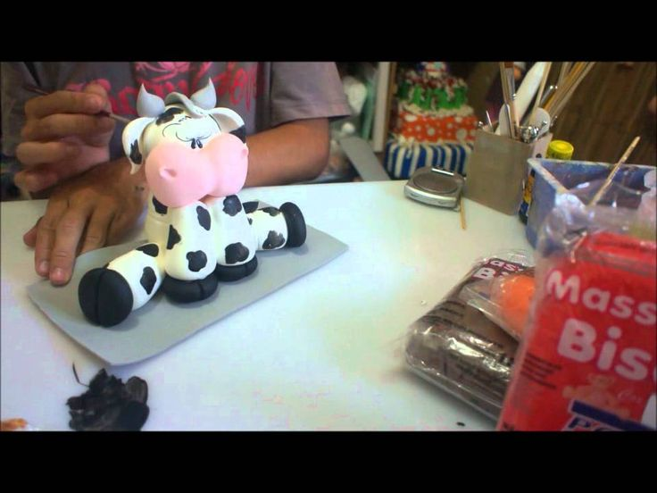 how to make a polymer clay cow, video tutorial Part 2