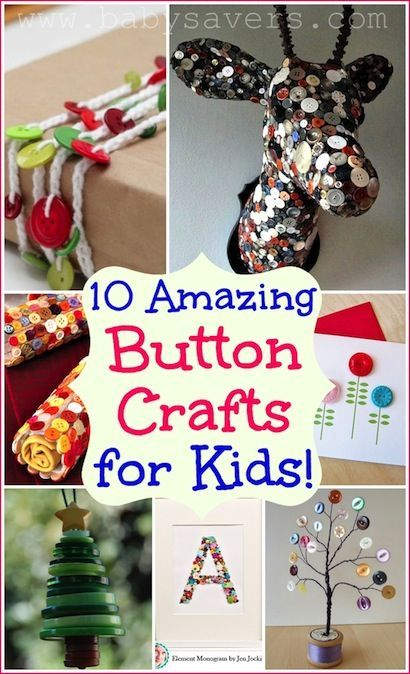 Tutorials for some really cute button crafts for kids. I have to check this out--good fine motor skills and early letter activities, too