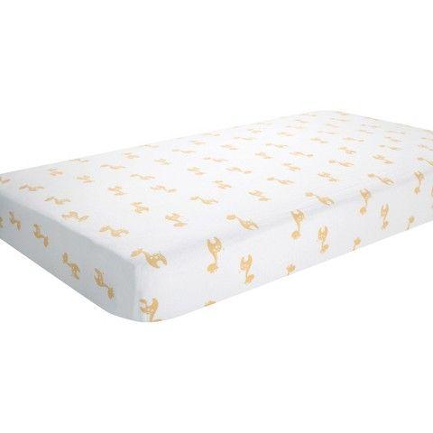 aden® by aden + anais® crib sheet, safari friends - giraffe