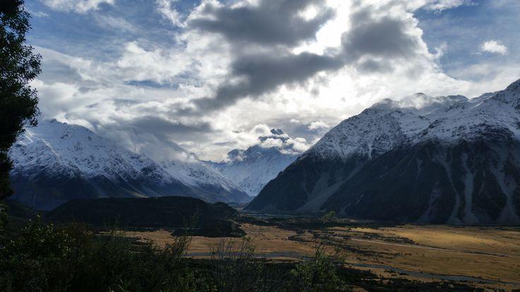 Aoraki Mount Cook under moody weather New Zealand [OC] [5312x2988]   landscape Nature Photos