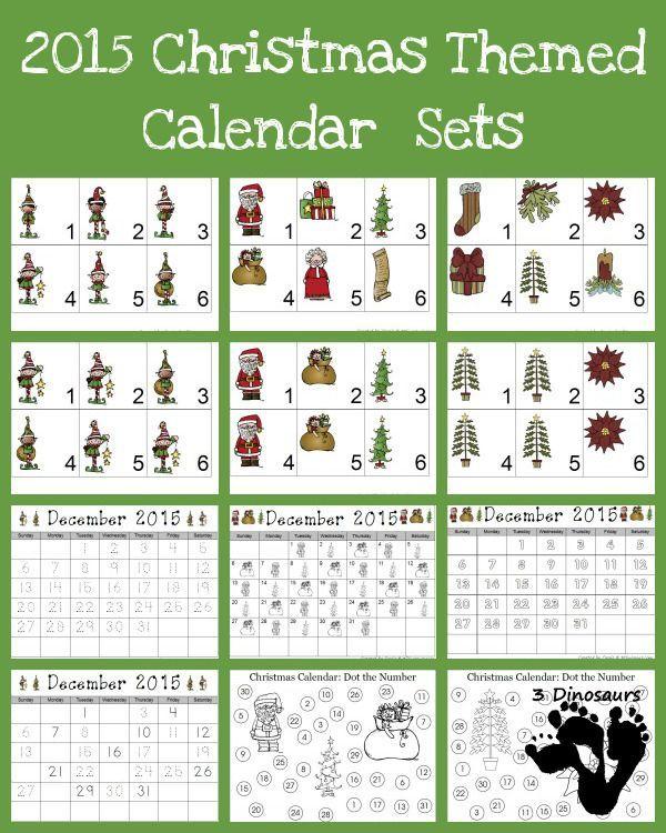 Calendar Numbers Printables Preschool : Free christmas calendar printables types of elves