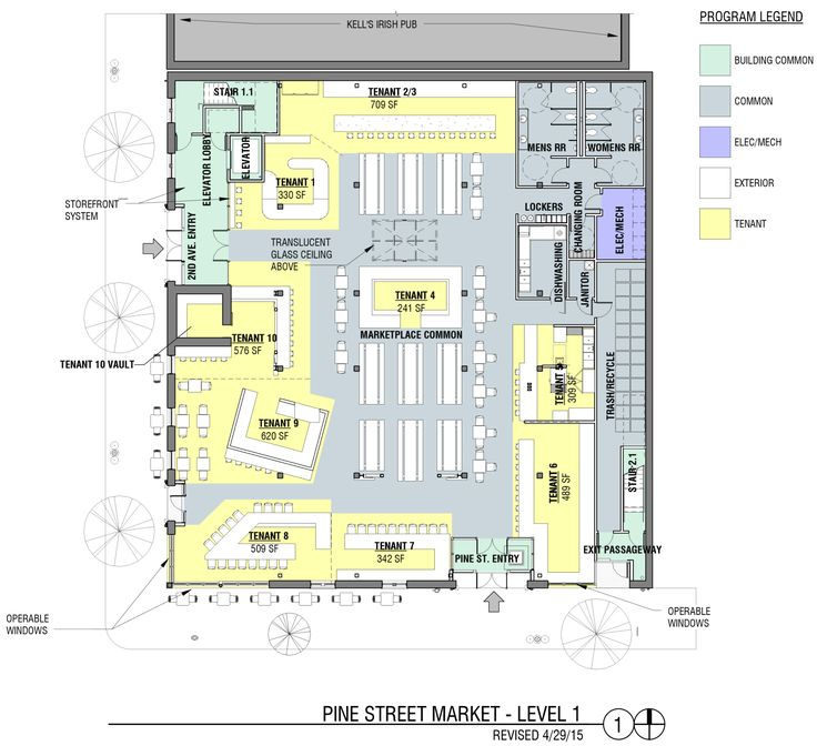 Small Food Court Plan