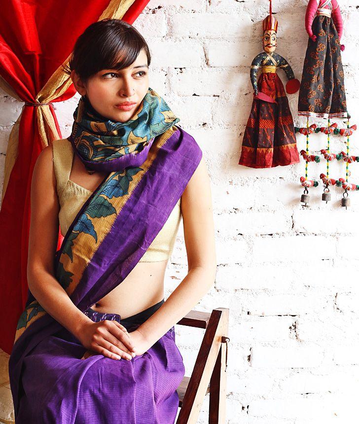 Kalamkari saree, via Jaypore. Love the colors!