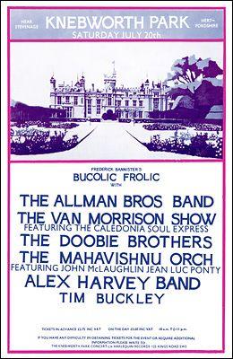 Allman Brothers, Van Morrison, Doobie Brothers, Mahavishnu Orch, Alex Harvey, Tim Buckley