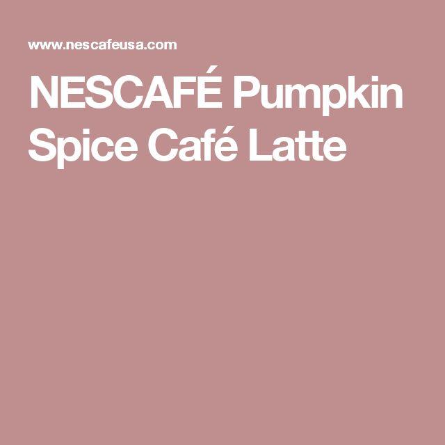 NESCAFÉ Pumpkin Spice Café Latte
