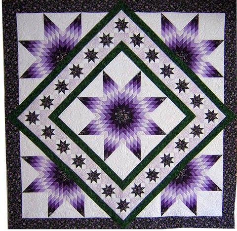 lemoyne star quilt pattern   Celestial Gardens quilt pattern, Quilting with Roxanne. A Lone Star ...