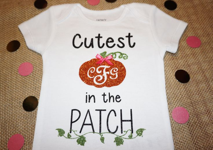 Baby Cutest Pumpkin Shirt-Pumpkin Baby Bodysuit-Baby Pumpkin Outfit-Baby Toddler Halloween Shirt-Monogram Baby Toddler Halloween Shirt by DesignsByANM on Etsy