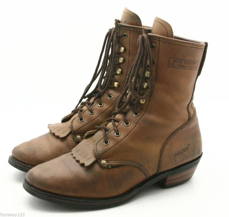 Lace Up Cowboy Boots Cr Boot