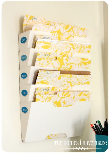 fabulous mail center - we so need this.  Also lots of other great family command center ideas. - ikea wall file