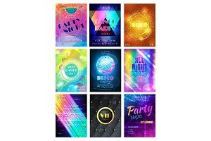 Party vector pattern disco club or nightclub poster background and night clubbing or nightlife… illustrations to enhance webpages posters cards and documents. These illustration sets include watercolor hand-drawn and vector sets to use in projects for the web and print.