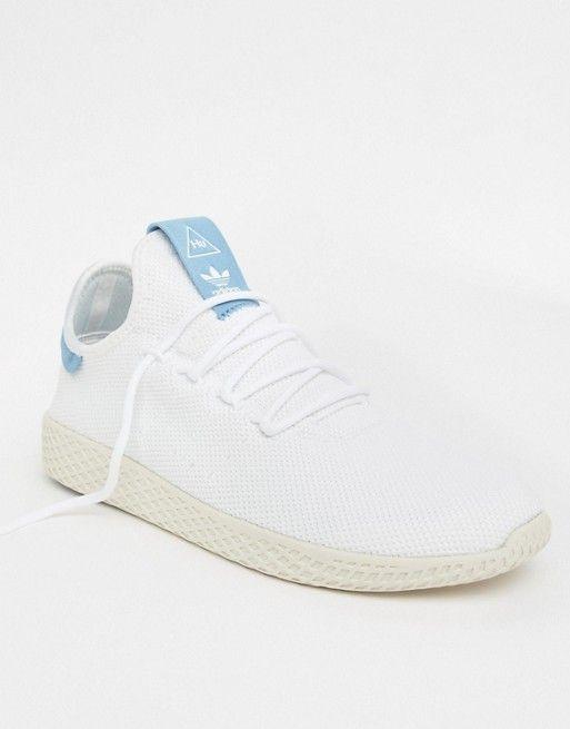 2297ed3d6 adidas Originals Pharrell Williams Tennis HU Sneakers In White CQ2167