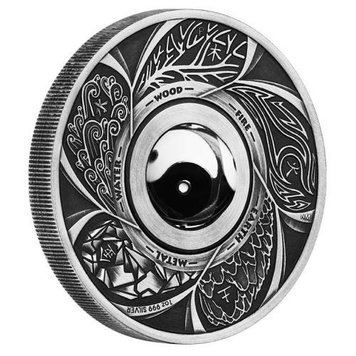 Achieve harmony and balance with this special Yin Yang silver coin | Yin Yang Rotating Charm 2016 1oz Silver Antiqued Coin | The Perth Mint