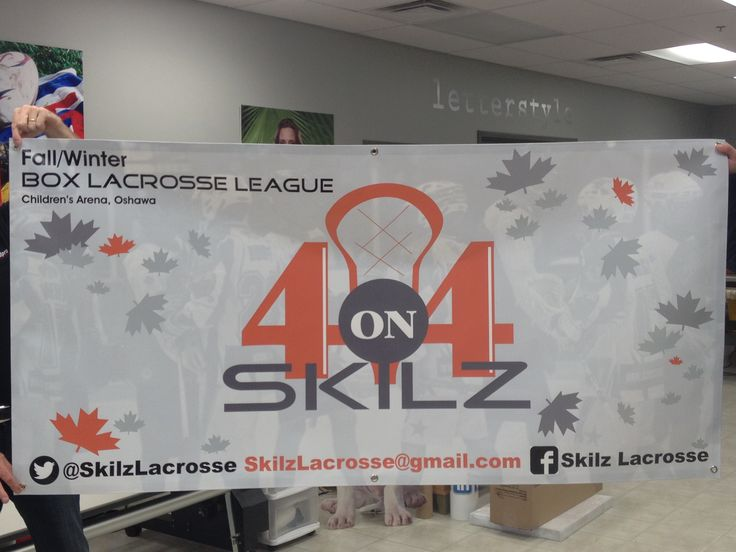 This was a last minute job for one of Speedpro Imaging Oshawa's existing clients, Skilz who is starting a new venture in Oshawa…..a 4 on 4 box lacrosse league. They required a 3' x 6' banner – digital print on 13 oz scrim vinyl with hem and grommets to hang in the arena to advertise their upcoming events.