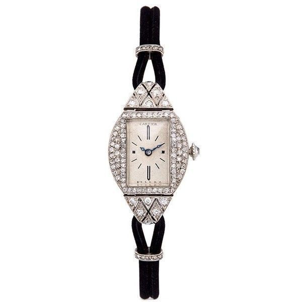 LC Collection Art deco Cartier Paris watch ($66,365) ❤ liked on Polyvore featuring jewelry, watches, metallic, vintage wrist watch, art deco wristwatches, art deco watches, vintage jewelry and vintage wristwatches #artdecojewelry #vintagejewelry