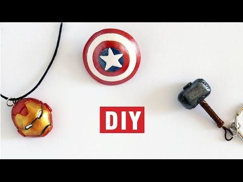 DIY Iron Man's Head, Thor's Hammer and Captain America's Shield - YouTube
