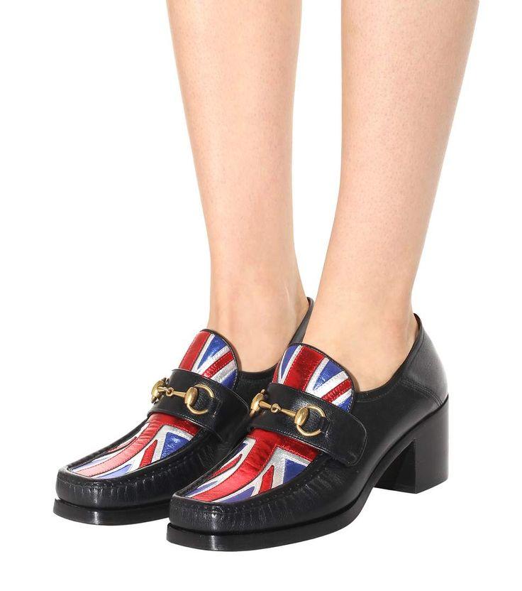 Union Jack Horsebit black leather loafers