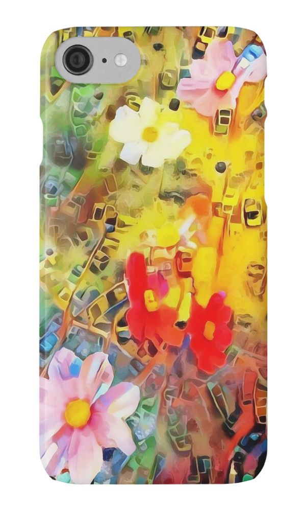 """Meadow flowers painting"" iPhone Cases & Skins by siwabudda 