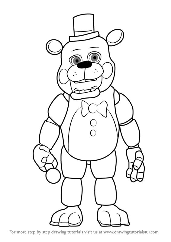 How to Draw Toy Freddy Fazbear from Five Nights at Freddy ...