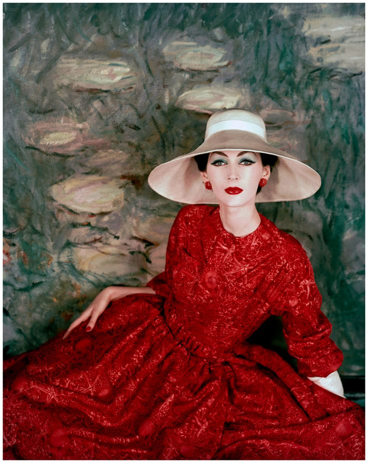 M s red dress 50s style