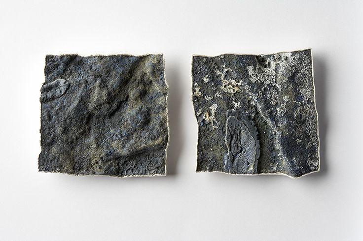 Per Suntum - Dive # 1 and # 3 Brooches 2005. Silver, niello, enamel, coral. Private collection
