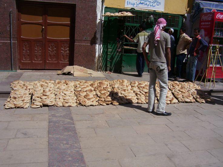 Fresh Bread Cairo Street Market