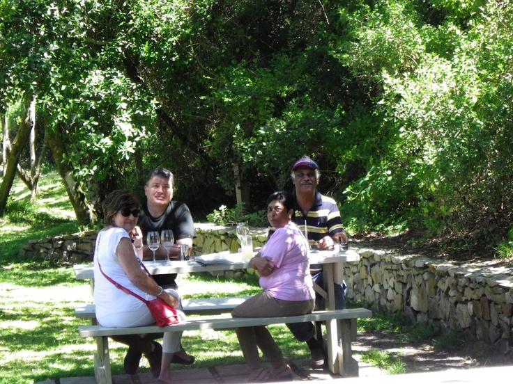 Having fun at the Five Elements Restaurant near Port St Francis