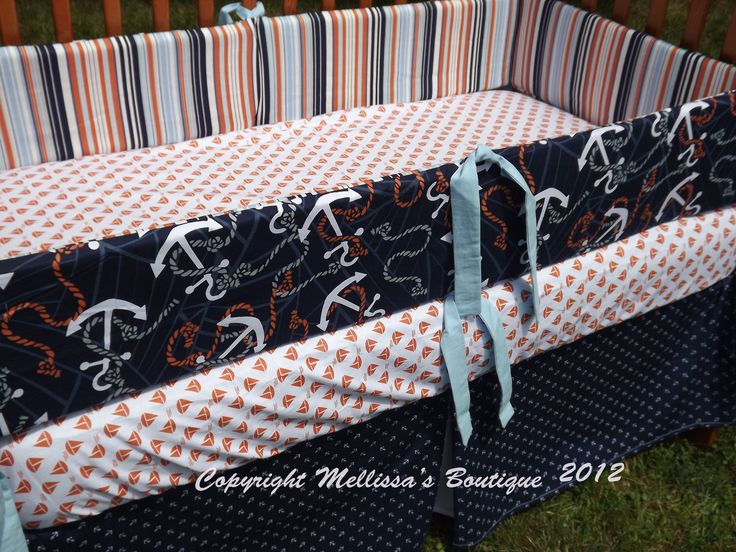anchor nursery bedding  Boutique Anchors Away Nautical Baby Nursery 3 ...