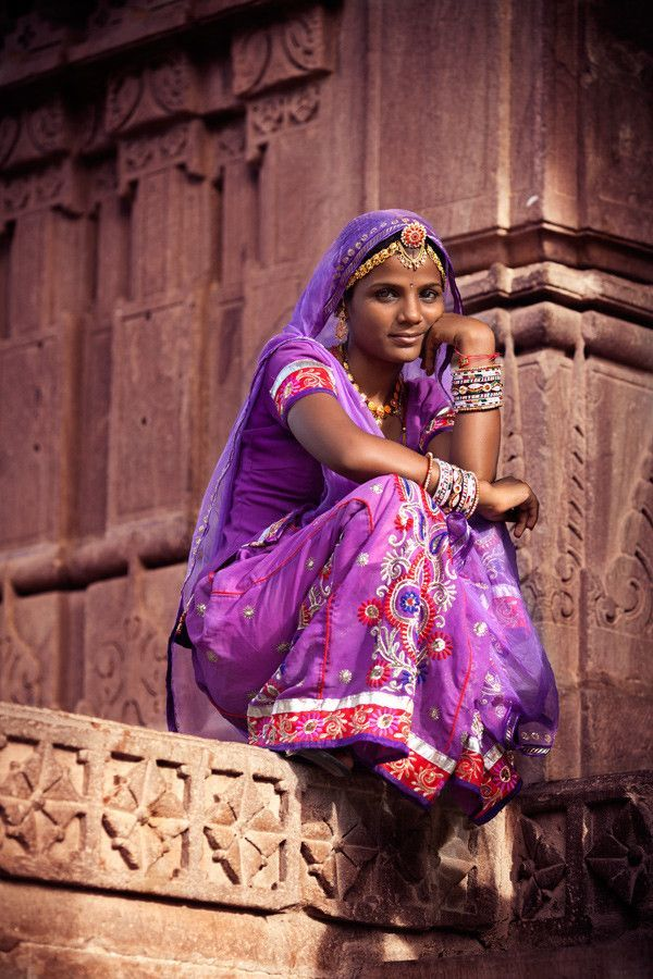 A woman from State of Rajasthan, India in typical regional attire. Description by Pinner Mahua Roy Chowdhury