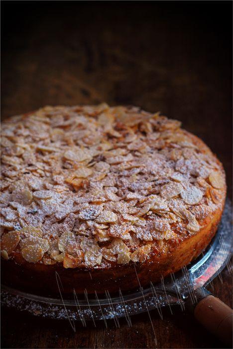 Миндально-лимонный торт с рикоттой (без муки)