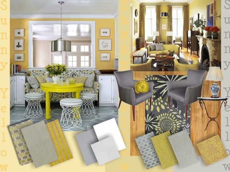 yellow most popular paint color for kitchen yellow moodboard kitchen created on www - Gray And Yellow Kitchen Ideas